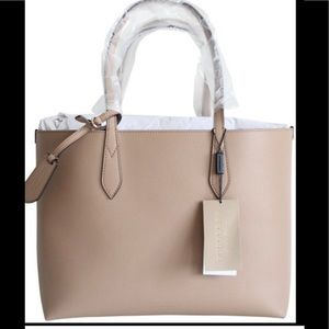 NWT Burberry small reversible tote. Camel